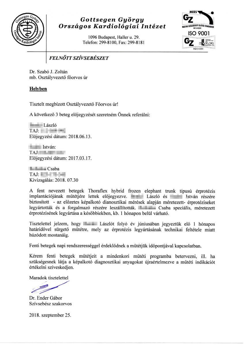 38cd214a2b17 Itt a levél, ami bizonyítja, hogy hazudott a Kardiológiai Intézet ...