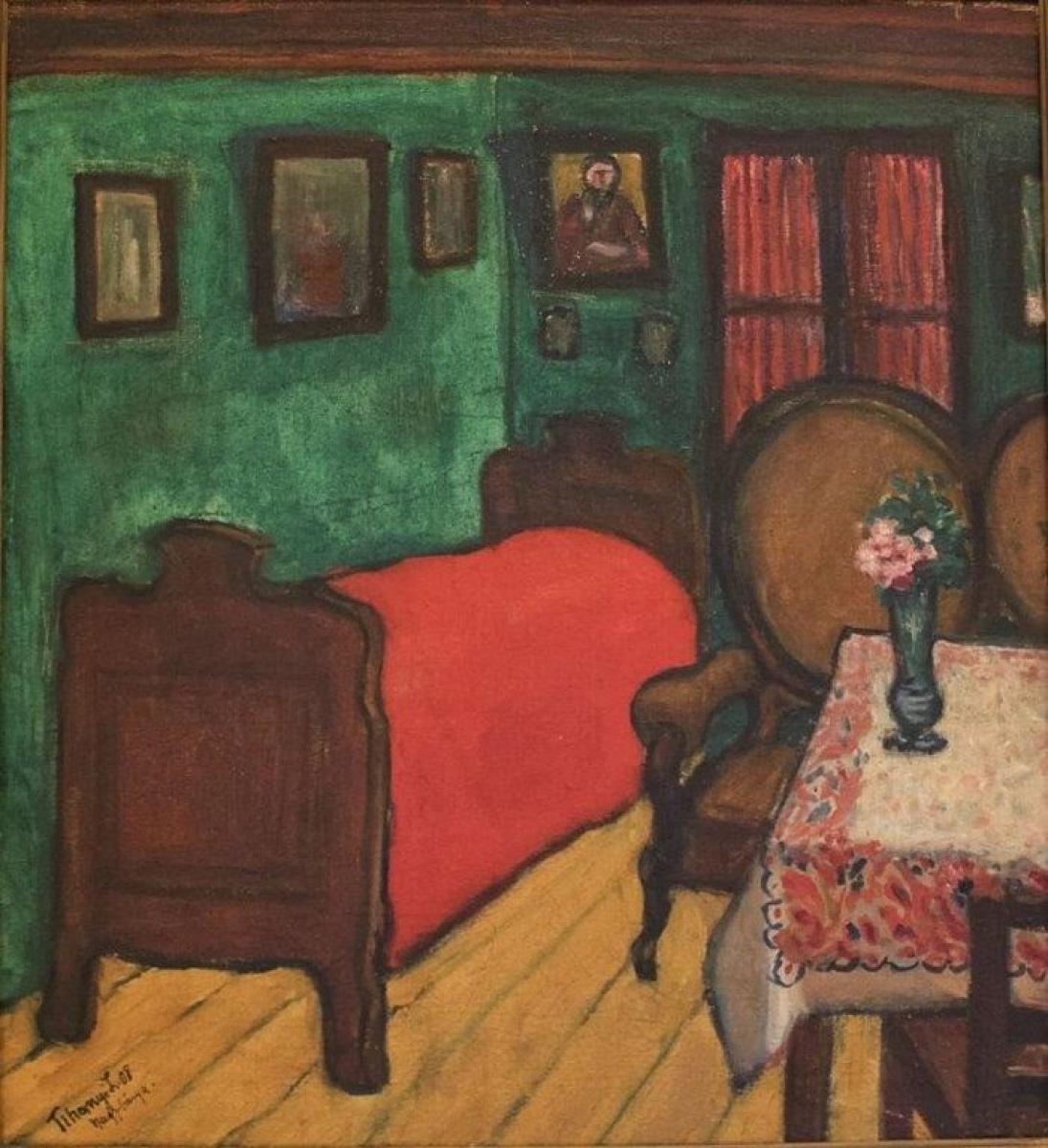 TIHANYI LAJOS Interieur, 1908