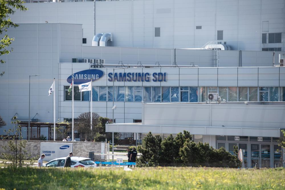 A Samsung gödi üzeme