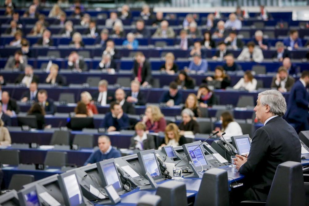 Antonio Tajani EP-elnök a vitán. Májusig meg kell állapodni Fotó: Európai Parlament