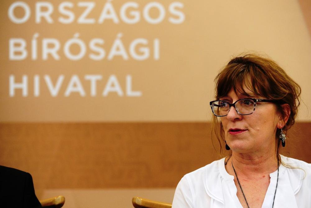 Handó Tünde, az Országos Bírósági Hivatal elnöke Fotó: Népszava/Vajda József