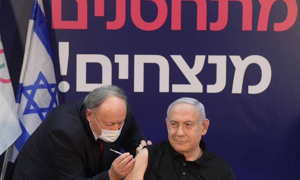 Elsőként Netanjahut oltották be Izraelben