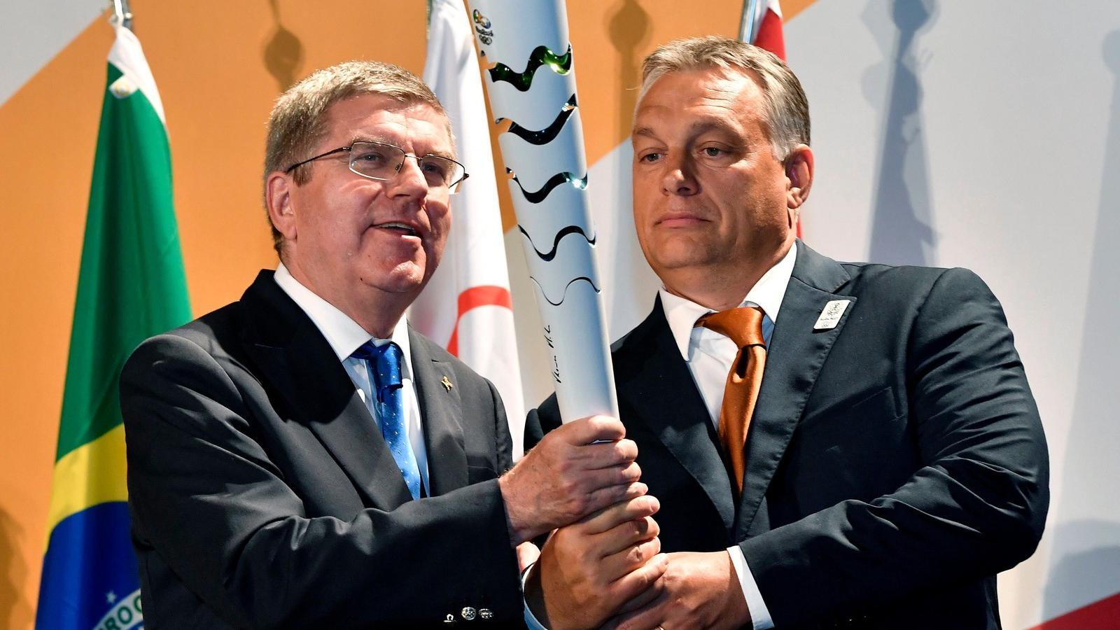 dc328de297 Orbán Viktor még olimpiát akar rendezni. Balra Thomas Bach a MOB elnöke.  MTI Fotó: Illyés Tibor