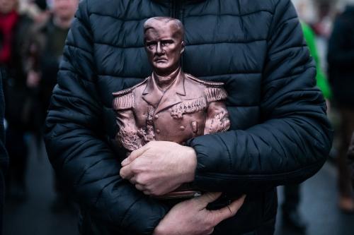 Megemlékezés Horthy Miklós 100 éves kormányzóvá válása alkalmából a Mi Hazánk Mozgalom rendezésében 2020. március 1-jén.