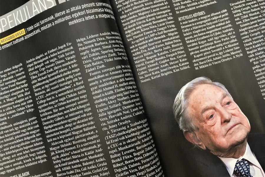 Elmarasztalta a bíróság a Figyelőt a Soros-lista miatt